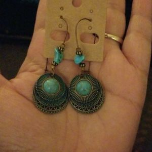 Unbranded Danalour Jewelry - Earings Womens With Simulate Turquoise